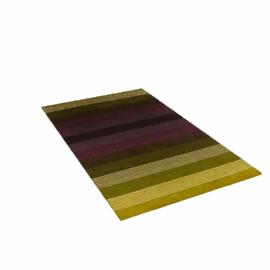 Sanderson Velutti Stripe Rug, Lichen / Aubergine, W90 x L150cm