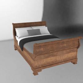 Oak Provencal Bedstead, Double