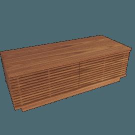 Line Storage Small Bench, Walnut