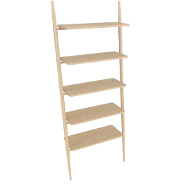 Folk Ladder 32'' Shelving, Natural Ash