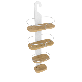 Brookline 4-Tier Bamboo Shower Caddy