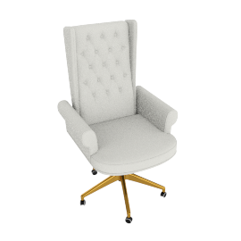 Megan High Back Chair, Cream