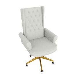 Megan High Back Chair, Cream