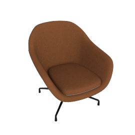 About A Lounge 81 Swivel Chair, Low Back, CA 5011 Sand / Black