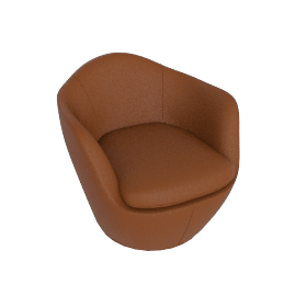 Lina Swivel Chair, Kalahari, Canyon