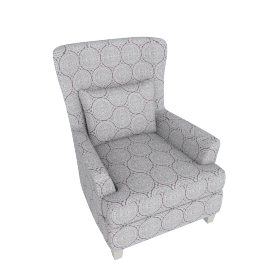 Mono Suzani Embroidered Accent Chair