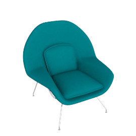 Womb™ Chair - Classic Boucle - Aegean