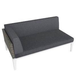 Evening Breeze Right Lounge Chaise , Grey/White