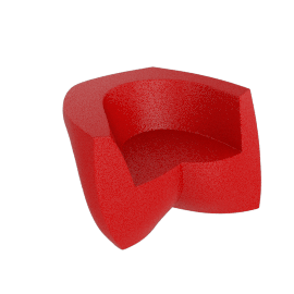 Frank Gehry Easy Chair, Red