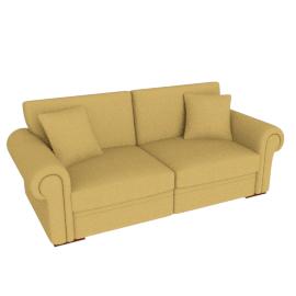 Romsey Grand Sofa, Gold