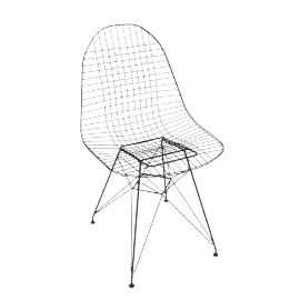 Vitra Eames DKR Side Chair, Black