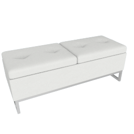 Viera Ottoman Storage Bench, White