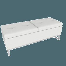 Viera Ottoman Storage Bench, White