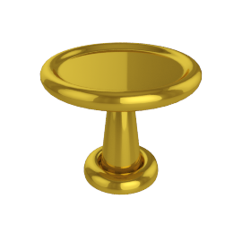 Spun Short Table Brass