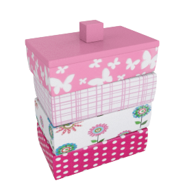 Bonte Cotton Jar - 9.8x6x11 cms
