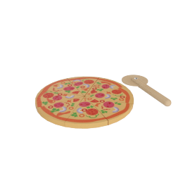 Tilly Printed Wooden Pizza