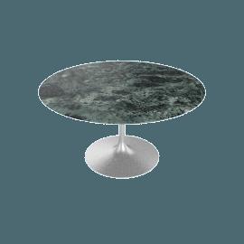 Saarinen Round Dining Table 54'', Coated Marble 2 - Plt.VerdeAlpi