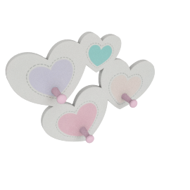 Princess Heart Shape Wall Peg