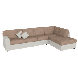 Jumbo Corner Sofa Right Salak And Taupe