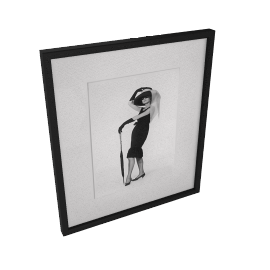 Getty Images Gallery Hepburn In Givenchy Framed Print, 50 x 57cm