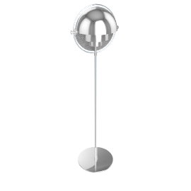 Multi-Lite Floor Lamp, Chrome