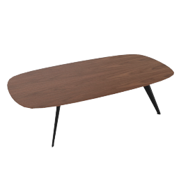 Solapa Coffee Low Table, Walnut