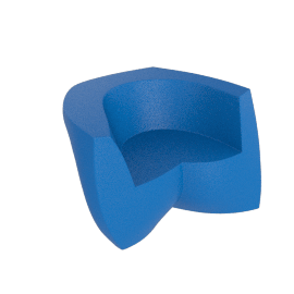 Frank Gehry Easy Chair, Blue