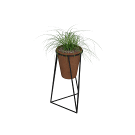 Jara Terracotta Planter with Stand, Small