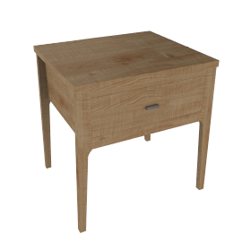House by John Lewis Maine 1-drawer Bedside Table