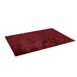 Angora Shaggy Rug - 160x230 cms, Red