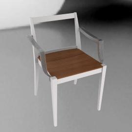 Play Armchair - Chalk/Wood - Chalk