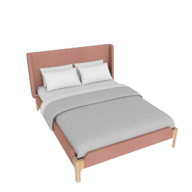 Roscoe King size bed, Dusk Pink