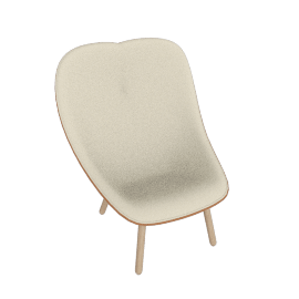 UCHIWA Lounge Chair, Flamiber Cream/Silk Cognac 250