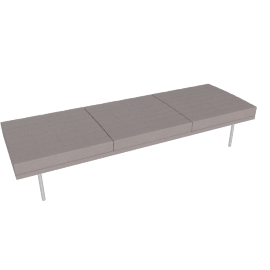 Museum Tuxedo Bench, MCL Leather, Charcoal