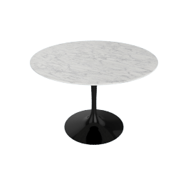 Saarinen Round Dining Table 42'', White Extra - Blk.WhiteExtra