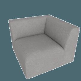 Juno modular - Corner End Seat, Marl Grey