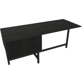 Line Storage Desk, Black