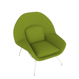 Womb™ Chair - Classic Boucle - Chartreuse