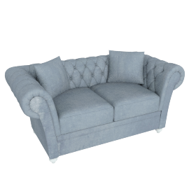 Ascot 2-Seater Sofa, Silver Grey
