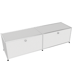 USM Haller Media Console without Casters, White