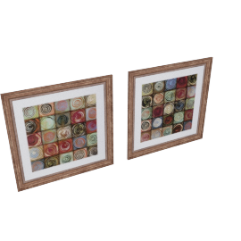 Dizzy Orbs 2-Piece Picture Frame Set - 24x24x0.6 inches
