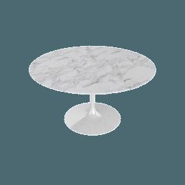 Saarinen Round Dining Table 54'', Calacatta - Wht.Calacatta
