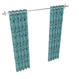 Nicole Eyelet Curtains, Teal, W167 x Drop 136cm