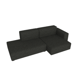 Mags Soft Low Sectional with Right Chaise, Olavi - Charcoal