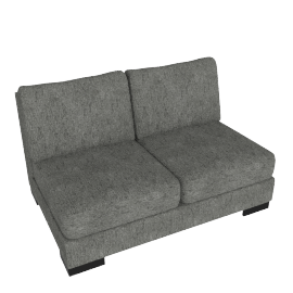 Signature 2 Seater Armless, Silver Gray