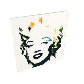 Marilyn, 100x100cm, by Catherine Dupont