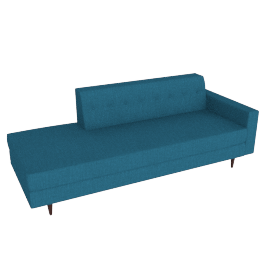 Bantam Studio Sofa Right Facing, Linen Weave Fin