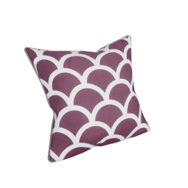 Fresco Filled Cushion - 45x45 cms, Purple