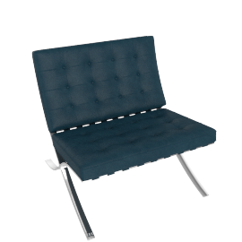 Barcelona Chair, Marine Blue