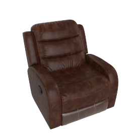 Chaplin 1 Seater Recliner Rust Brown